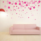 100 x Flower Wall Stickers Vinyl Art Decals