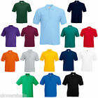 6 FRUIT OF THE LOOM POLO T SHIRTS 14 COLOURS ALL SIZES