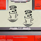 2x CUP OF COFFEE KITCHEN wall art STICKER DECOR DA7