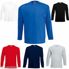 3 FRUIT OF THE LOOM LONG SLEEVED T SHIRTS S-XXL 6 COLS