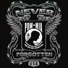 Pow Mia NEVER Forgotten Women T-Shirt born USA prisoner