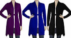 New Ladies Long Cardigan with two Button UK sz 8 -20