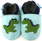 SOFT LEATHER BABY & TODDLER BOY SHOES 0-6,6-12,12-18,18-24 Mth & 2-3 Yr DINOSAUR