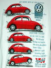 RED VW Beetle drifting bay poncho Shirt VWG033B VWG033W