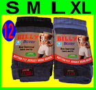 12 MENS BILLY BUTTON FLY COTTON BOXER SHORTS S,M,L,XL