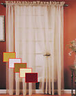 55X84 SHEER VOILE WINDOW CURTAIN PANEL,WHITE,BEIGE,GOLD