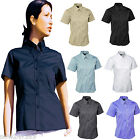 Ladies Pinpoint Oxford Shirt Short Sleeve Size XS - 5XL