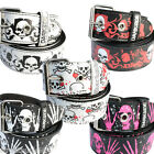 Printed Skull Belt-Sale Punk Rockabilly Rock Party Emo