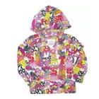 FLEECE PULL-OVER HOODIE GIRLS ATTACHED HAT POCKET CHILDRENS CLOTHES JACKET KIDS