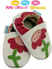 MINIFEET SOFT LEATHER BABY GIRL SHOES 0-6, 6-12, 12-18, 18-24 Mths Smiley Flower