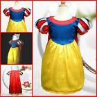 Halloween Snow White Princess Girls Paety Dress SZ 3-8Y