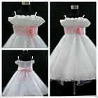 Pink Baby Christening Bridesmaid Flower Girl Dress 2-10