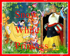 Snow White Princess Costume Girls Dress SZ 3-4-5-6-7-8Y