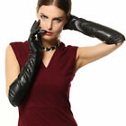 Women's long GENUINE LAMBSKIN soft leather opera gloves