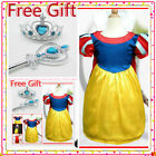 Halloween Fairytale Snow White Princess Girls Dress 3-8
