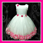 Pink White Party Prom Girls Dresses SZ 9-18M-1,2,3,4,5Y