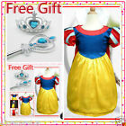 #188 Fairtytale Celebration Snow White Princess Girls Dress Costume 3-4-5-6-7-8Y