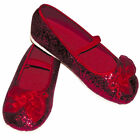Girls Red Sparkly Flower Girl Bridesmaid Party Shoes/Pumps