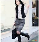 Women Fashion OL Wool Fabric Hot Short Boots Pants Shorts Black Grey New #WST023