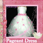 Pink Christmas Wedding Annual Party Flowers Girls Pageant Dress SZ 3-4-5-6-7-8-9