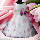 Purples Floral Christmas Party Flowers Girls Pageant Dresses SIZE 2-3-4-5-6-7-8Y