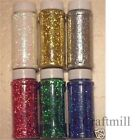 1 MEGA POT SPARKLY CRAFT GLITTER choose frm gold silver green blue red white