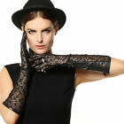 NEW WARMEN Women's long GENUINE Kid leather Unlined Lace gloves Christmas gift