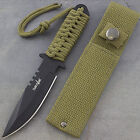 "7.5"" TACTICAL COMBAT HUNTING FIXED BLADE BOWIE KNIFE Throwing Survival Military"