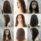 8' - 20' #2 Dark Brown India Remy Human Hair Full Lace Wig / Front Lace wig 2# ~