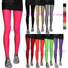 Solid Plain Neon Color Women Rock Punk Funky Sexy Leggings Tights Pants