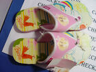 new BARBIE THONG SLIPPER EXCLUSIVE DESIGN MULTI COLOR PEACE SZ 2-3 YOUTH