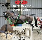"Zilco Quick Release Horse Harness Parrot Clips Rein Snaps 19mm (3/4"") 25mm (1"")"