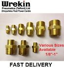 BRASS HEX NIPPLE BSPT X BSPT PNEUMATIC EQUAL & REDUCING AVAILABLE VARIOUS SIZES