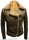 Brown Ladies Biker Style Retro Leather Sheepskin Jacket