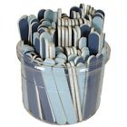 "Blue 3-1/2"" Mini 120/240 Grit Cushioned Washable Beauty Salon Spa Nail Files"
