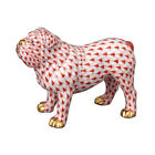 Herend Porcelain - Bulldog Fishnet Figurine