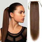 Silky Drawstring High Ponytail Clip in 100% Human Hair ponytail Extensions 120G