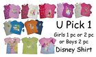 DISNEY T-SHIRT GIRLS BOYS SUMMER TOP TEE PRINCESS TANGLED HANDY MANNY NWT SHIRT