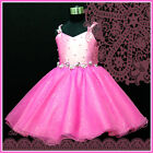 HP875 Pink Wedding Birthday Party Flower Girls Pageant Dress SIZE 2-3-4-5-6-7-8Y