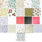 Printed Patterned Christmas Tissue Wrapping Paper 5 sheets - 20 designs u choose
