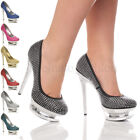 WOMENS LADIES HIGH HEEL PLATFORM WEDDING BRIDAL PROM PARTY PUMPS SHOES SIZE