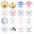 48 Personalised stickers for Baby Shower