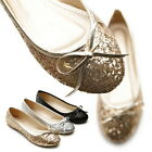 New Womens Shoes Glitters Ballet Flats Loafers Lace Ups Low Heels Multi Colored