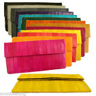 Genuine Eel Skin Rectangle Clutch Handbag Wallet