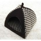 Fashion Classical Grid Pet Dog Cat House Bed Tent Chocolate free shipping S,M,L