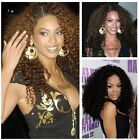 "New fashion Human Hair Lace Wigs _ Brazilian Kinky Curl Indian Remy 8"" -14"" HOT"