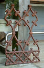 GOTHIC PANEL GRATE Cast Iron Garden Crest Wrought Iron Decorative