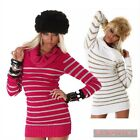 NEW WOMENS SEXY SIZE 6,8,10,12 JUMPER SWEATER CASUAL DRESS TOP PINK CLUB WEAR