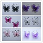 "50pc 1"" Nylon Butterfly Wedding  Party Supplies  Decorations Free Shipping"