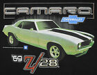 Camaro Chevy 69 Z28 T-Shirt Black Car American Muscle Auto BABA